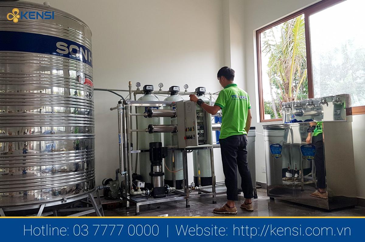 Lắp đặt hệ thống lọc nước RO công nghiệp tại đảo Hòn Thơm