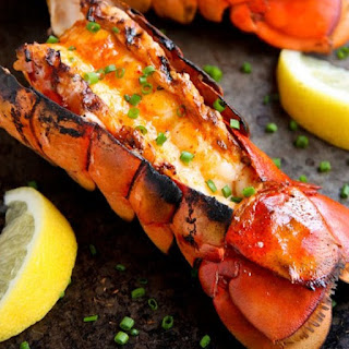 Grilled Lobster Tail with Tropical Fruit