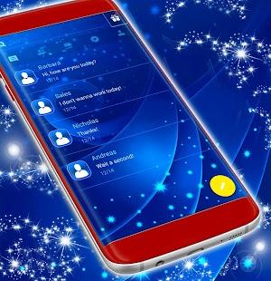 Blue SMS Themes - náhled