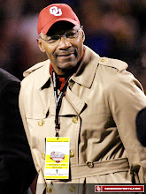 Photo: Lee Roy Selmon was recognized on the field at the 2008 Big 12 Championship Game.