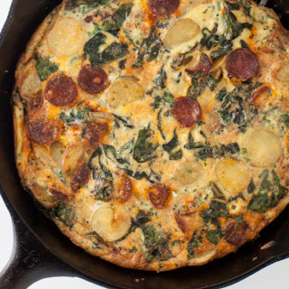 Frittata with Chard and Chorizo