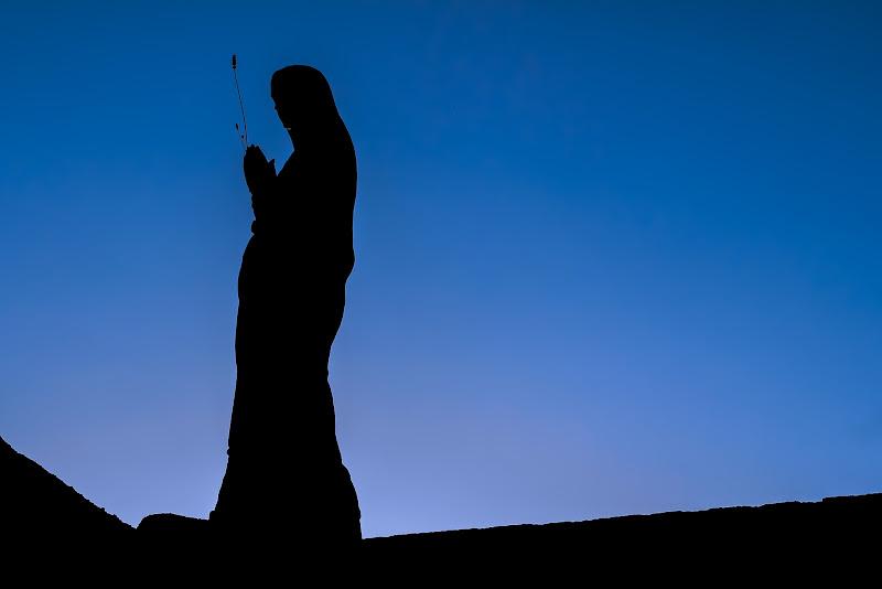 Madonna silhouette di Filippo Ceragioli