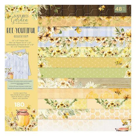 Natures Garden Paper Pad 12X12 - Bee-Youtiful