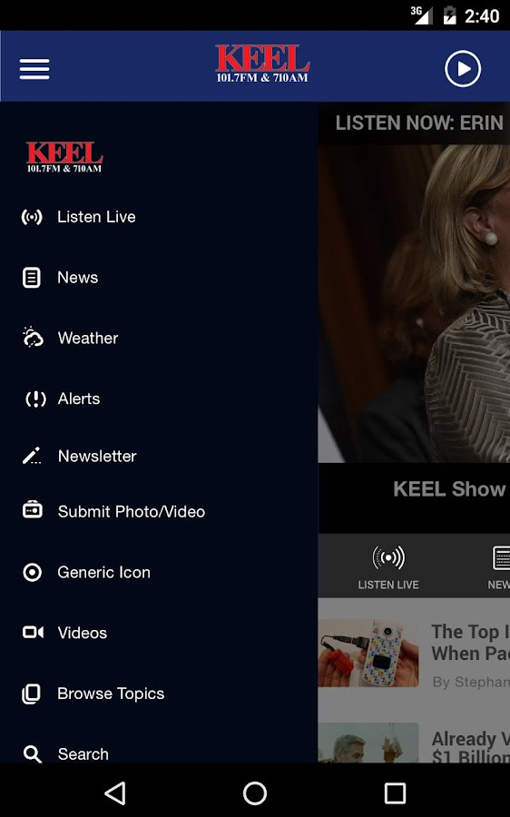 News Radio 710 KEEL - Shreveport News Radio- screenshot