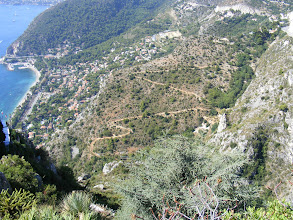 Photo: There is also a portion of Eze along the seaside, with the path down reportedly about a 45 minute walk (no word from this end about the duration of the ascent …).