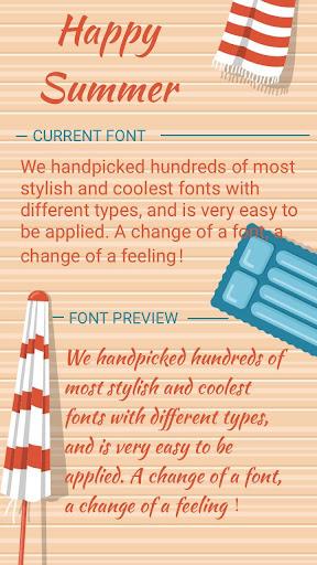 happy summer font for flipfont , cool fonts text screenshot 1