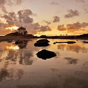 Reflexos Dourados by Angela Silva - Landscapes Sunsets & Sunrises ( ãngela silva )