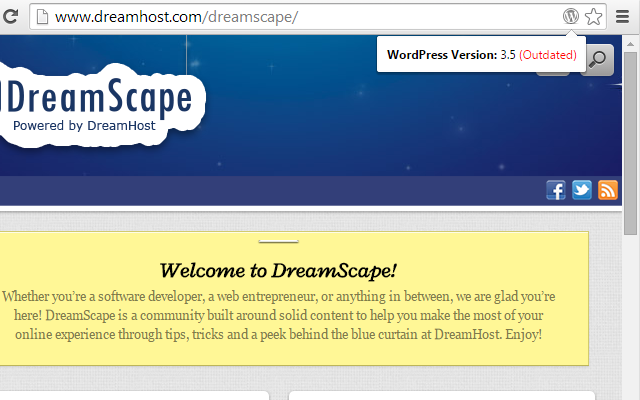 Version Check for WordPress