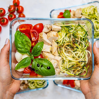 Caprese Chicken Zoodles for Meal Prep Recipe