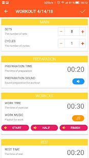 Interval timer with music PRO screenshot