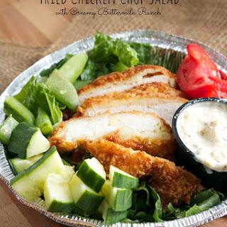 Fried Chicken Chop Salad with Creamy Buttermilk Ranch