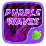 Purple Waves GO Keyboard Theme 3.87 Apk