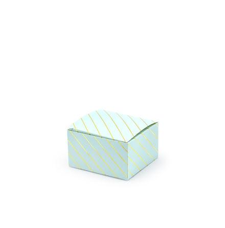 Presentaskar - ljusblå med guldränder