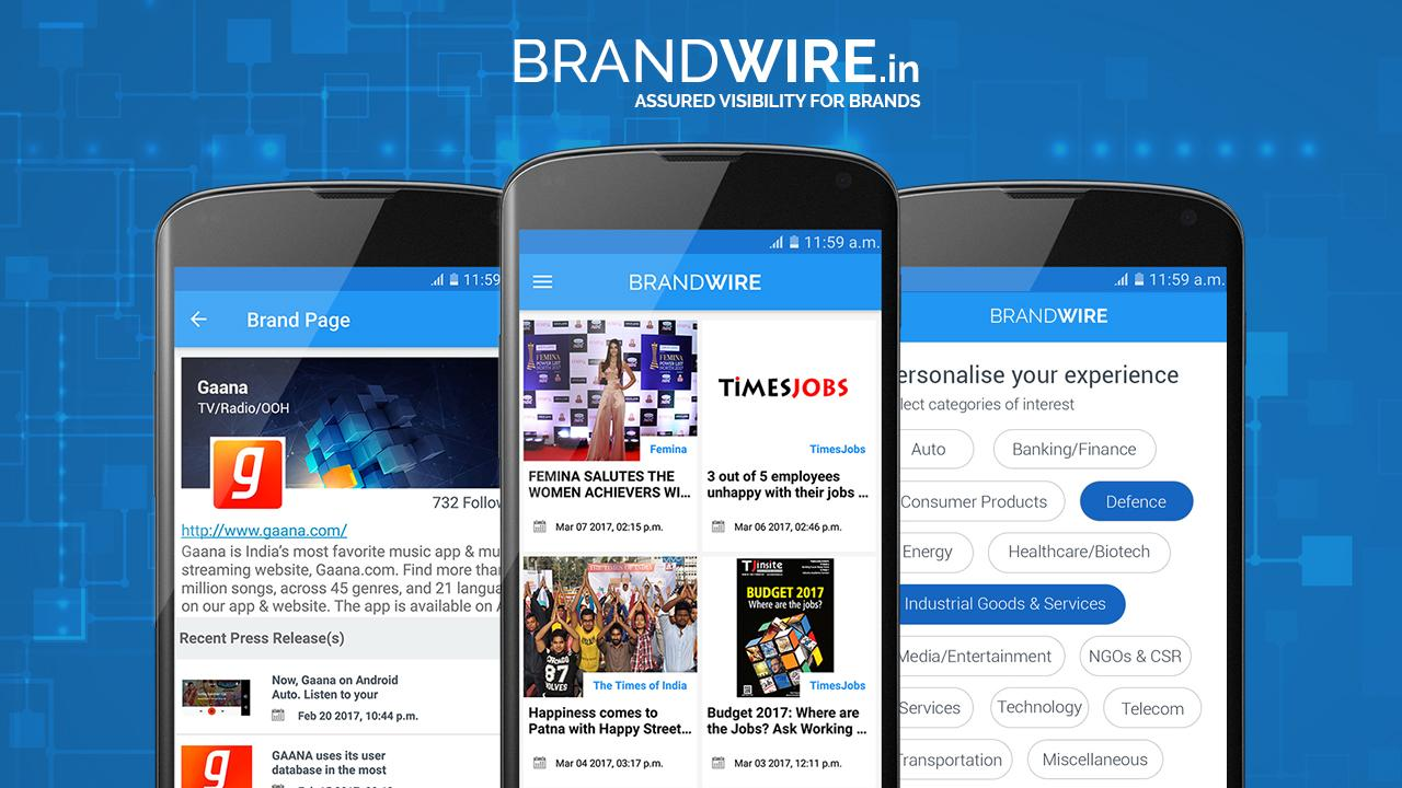 Press Releases by Brandwire.in- screenshot