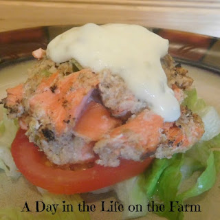 Grilled Salmon Burgers with Caper Mayo
