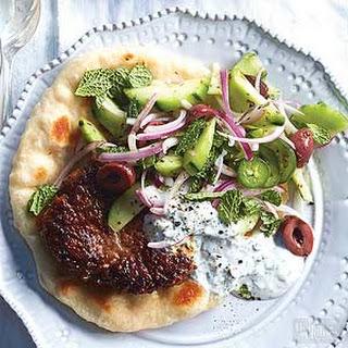 Lamb & Cucumber Salad Pitas.
