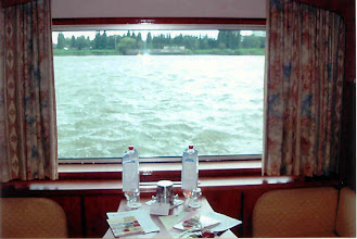 Photo: Our cabin was near the front of the ship. Occasionally, swans would swim up to the window and look right in!