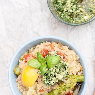 One Pot Lemon Asparagus Quinoa w/ Rocket Pesto