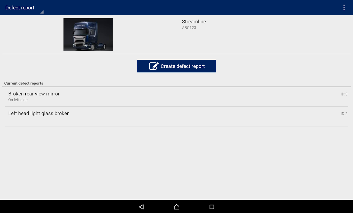 Scania Fleet Management- screenshot