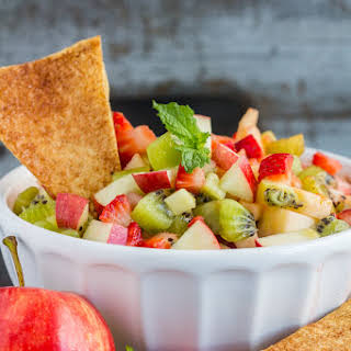 Apple Berry Salsa with Cinnamon Chips.