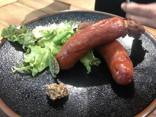 德國帶骨香腸,真很好吃!香氣十足,不死鹹!推薦