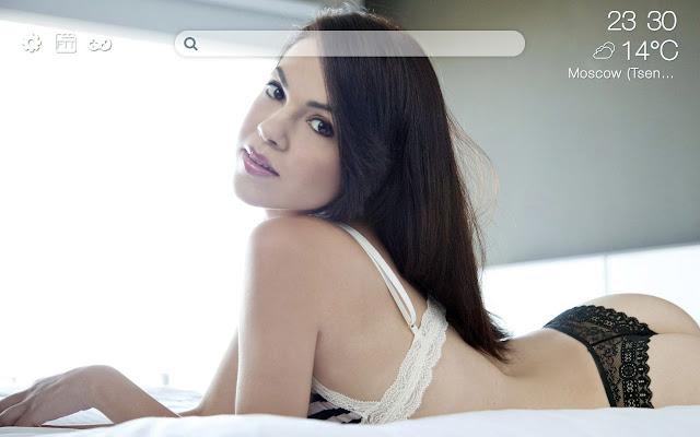 Sexy girls in pants HD new free tab theme