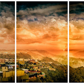 Abha by Khaled Noaman - Landscapes Mountains & Hills ( clouds, ksa, mountain, sunset, abha,  )