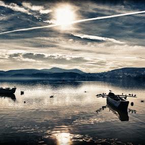 by Vasilis Tsesmetzis - Digital Art Places ( water, boat, reflect )