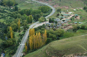 Photo: Glen Reenen Rest Camp, Golden Gate Highlands National Park (South Africa). Photo taken from the Brandwag (Sentinel).