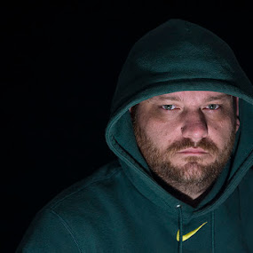 Mean, Green, Linebacker Machine by Bobbi Taylor-Photography - People Portraits of Men ( oregon, hot light, hoodie, football, green, linebacker, single light, men, husband, nike,  )