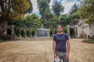 Photo: Daniele in front of the Fontana dell'Ovato in Villa d'Este in Tivoli, Lazio, Italy