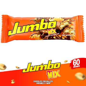 Chocolatina JUMBO MIX   Galleta Caramelo Maní x60g