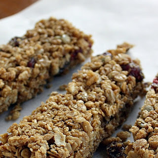Allergy-friendly Fruit and Seed Chewy Granola Bars.