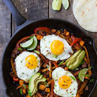 Mexican Black Bean & Sweet Potato Skillet