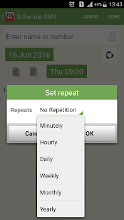 SMS-Call Scheduler Pro Screenshot