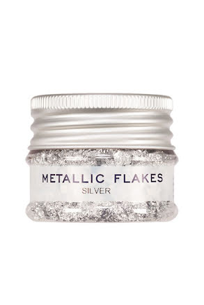 Metall flakes, silver