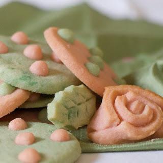 Rose and Polka Dot Sugar Cookies
