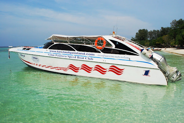 Travel from Koh Bulone to Pakbara Pier by speed boat
