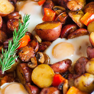 Potato Breakfast Skillet with Sausage and Mushrooms.