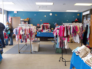 Photo: The clothing sale fundraiser at Fallbrook School's Family Fair March 23, 2013.