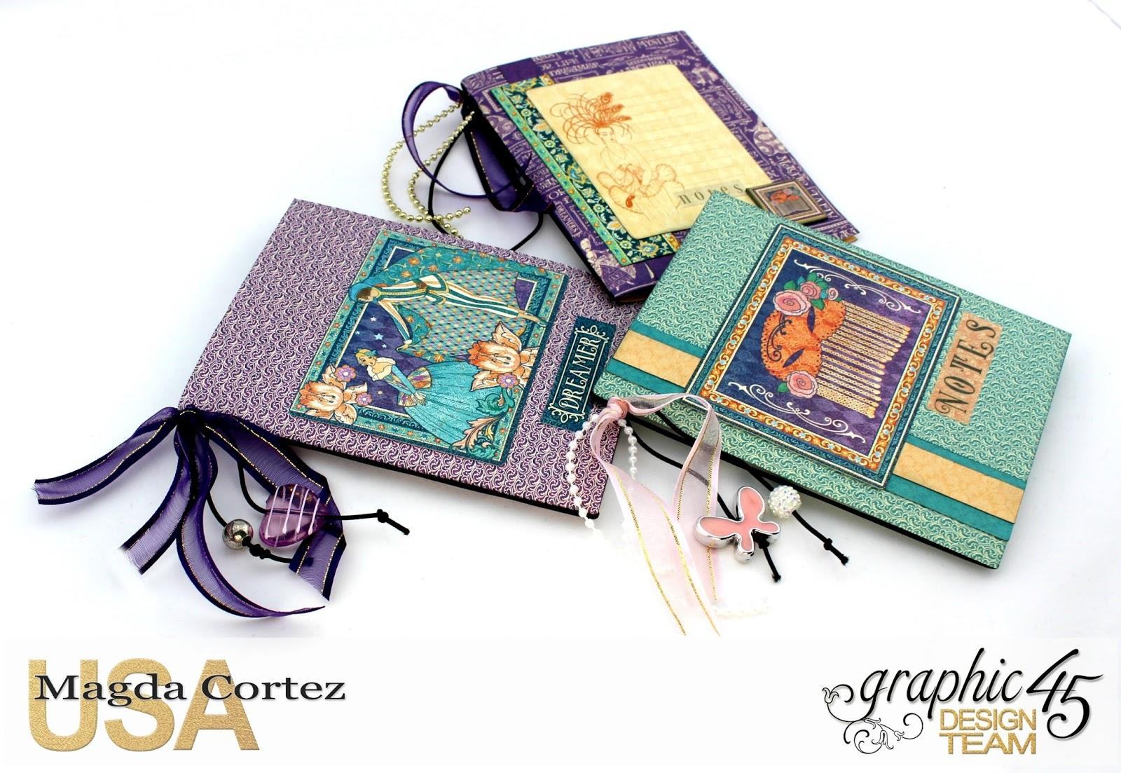 60 Second Tutorial Mini Notebooks, Midnight Masquerade, By Magda Cortez, Product by Graphic 45, Photo 01 of 07, with Tutorial.jpg