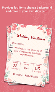screenshot image - Invitation Card
