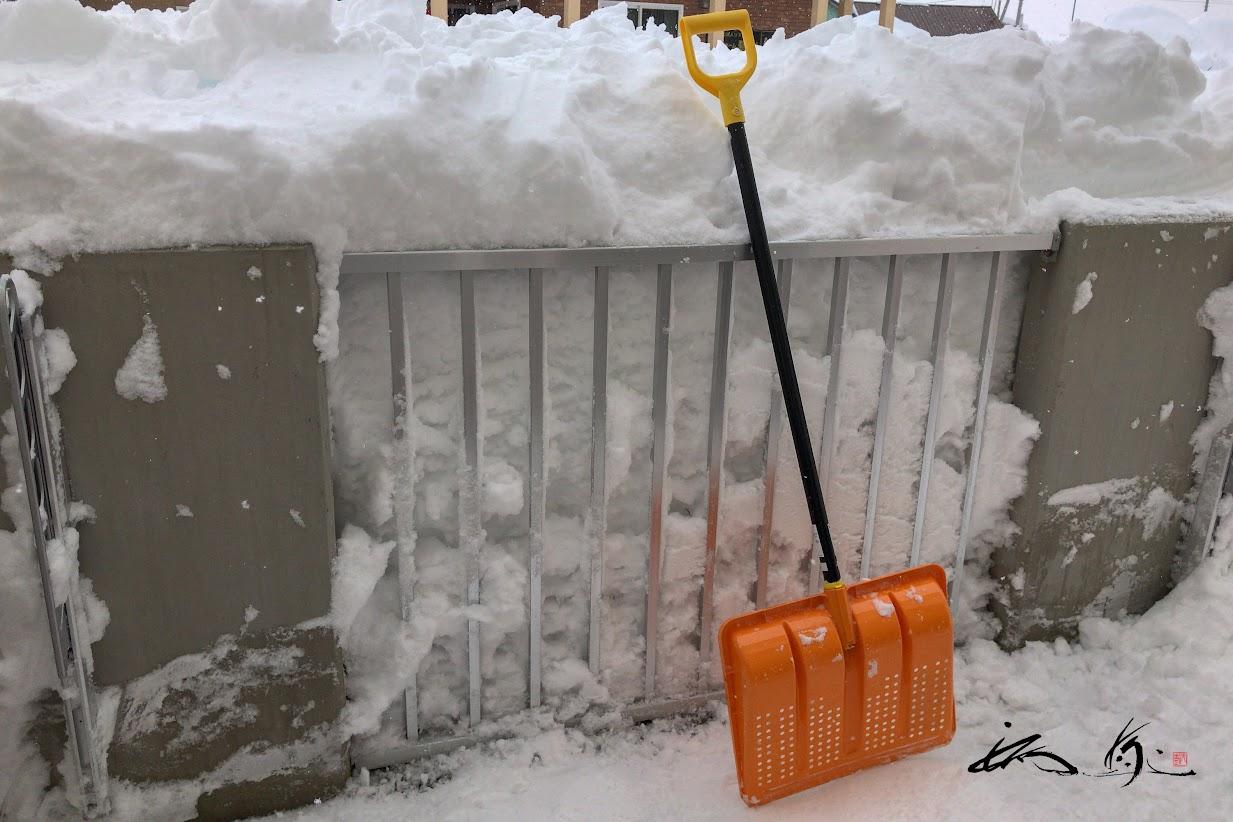 ベランダの雪はね完成!