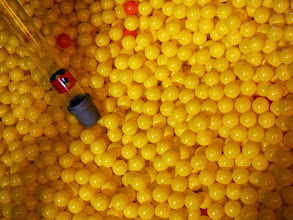 Photo: The ball pit with suction spout