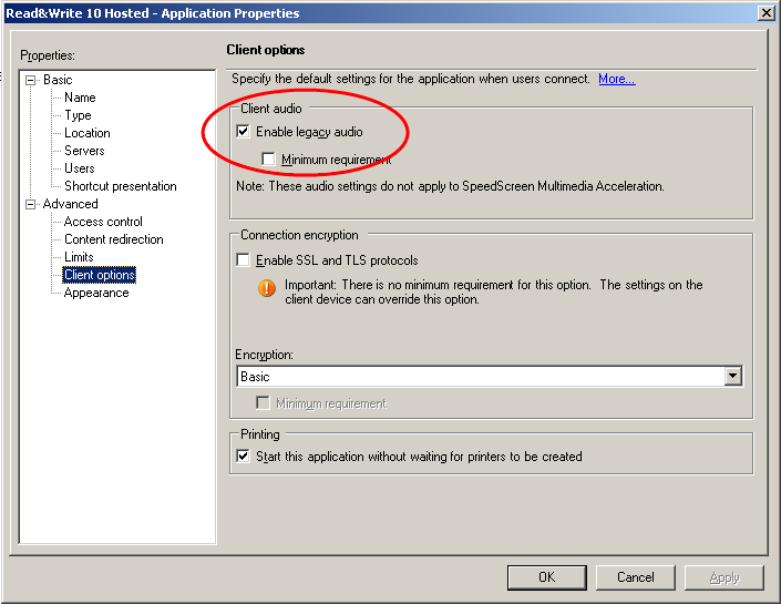 How to configure on a Citrix server | Support