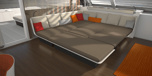 Liberty 82 interior design, daybed