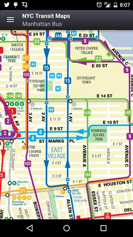 E Train Subway Map