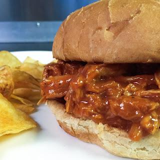 Bourbon BBQ Pulled Chicken Sandwich.