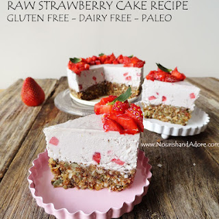Raw Strawberry Non Cheese Cake.