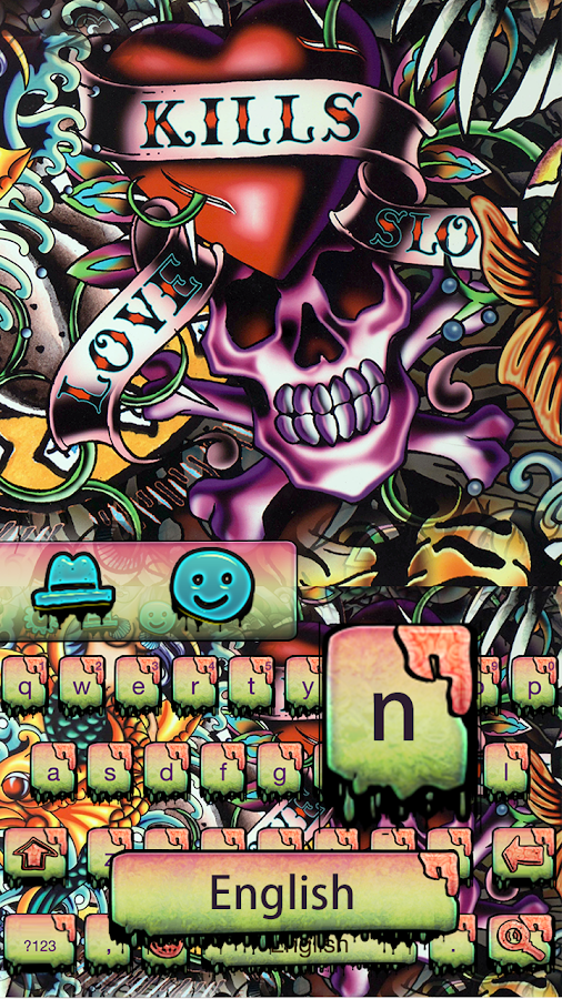 Street graffiti skull keyboard- screenshot